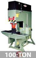 Kalamazoo Metal Muncher Series GB100 100 Ton Gap Bed Hydraulic Punch Presses