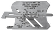 G.A.L. Gage Adjustable Fillet Weld Gauge Inch - GAL-3