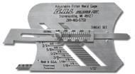 G.A.L. Gage Adjustable Fillet Weld Gauges