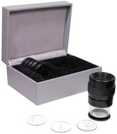 Fowler 10x Pocket Optical Comparator Set with 9 reticles - 52-664-009