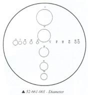 Fowler 10x Reticle #1 - 52-661-001