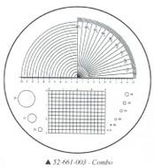 Fowler 10x Reticle #3 - 52-661-003