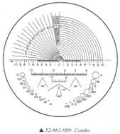 Fowler 10x Reticle #9 - 52-661-009