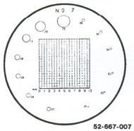 Fowler 7x Reticle #7 - 52-667-007