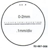 Fowler 7x Reticle #8 - 52-667-008