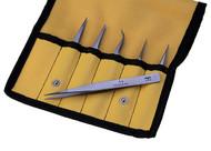 Aven Titanium 6-Piece Precision Tweezer Set - 18480TT