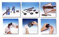 "Kinetronics StaticWisk Hand Held Anti-Static Brush, 4"" brush in plastic box - SW-100"