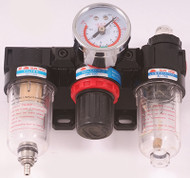 Precise 3 Piece Filter/Regulator/Lubricator Units