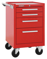 "Kennedy K1800 21"" 4-Drawer Roller Cabinet, Industrial Red - 21040R"