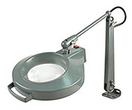 "Dazor Iron Man Machine Clamp Magnifier, 3-diopter (5""), Machine Grey - 1420E-MG"