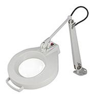 "Dazor Iron Man Machine Clamp Magnifier, 5-diopter (5""), Dove Grey - 1420E-5-DG"