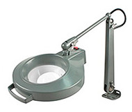 "Dazor Iron Man Machine Clamp Magnifier, 11-diopter (3""), Machine Grey - 1420E-11-MG"