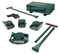 Hilman Rollers FT Series Chain Action Roller Kit, 15-Ton w/ Diamond Steel Top - KRS-15-SLD