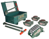 Hilman Rollers FT Series Chain Action Roller Kit, 30-Ton w/ Padded Top - KRS-30-SLP