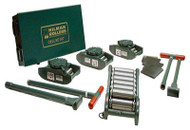 Hilman Rollers FT Series Chain Action Roller Kit, 60-Ton w/ Diamond Steel Top - KRS-60-SLD