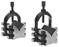 Brown & Sharpe No. 750-2 V-Blocks and Clamps - 599-750-2