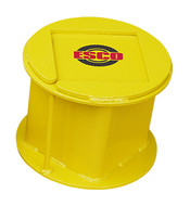 "ESCO 55 Ton Steel Stackable Cribbing Stand, 9"" Height - 12503-ES"