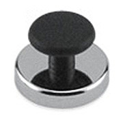 Round Base Magnet with Knob, 16 Lbs. Pull - HMKR-45