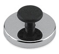 Round Base Magnet with Knob, 25 Lbs. Pull - HMKR-50