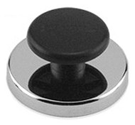 Round Base Magnet with Knob, 65 Lbs. Pull - HMKR-70