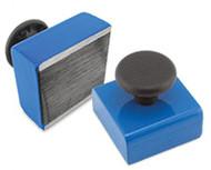 Rectangular Base Magnet with Knob, 15 Lbs. Pull - HMKS-B