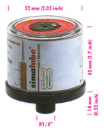 SIMALUBE Automatic Single Point Lubricator 30 mL, 10 pack, empty for self-filling - 10xSL00-30