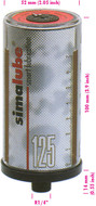 SIMALUBE Automatic Single Point Lubricator 125 mL, 10 pack, empty for self-filling - 10xSL00-125