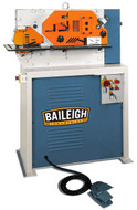 Baileigh 4 Station Hydraulic Ironworker, 44 Ton, 220V 3-phase - SW-443
