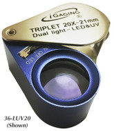 iGaging 10X LED & UV Optical Loupe - 36-LUV10