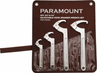 "Paramount Adjustable Hook Spanner Wrench Set, 3/4"" to 6-1/4"" capacity - 992-639-5"