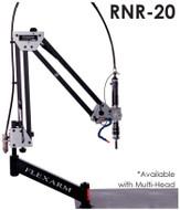 """FlexArm Pneumatic Tapping Arm Series RNR-20 w/ Multi-Position Head, 14-72"""" Range, 200/700 RPM - RNRM20-6"""
