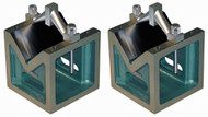 "Taft-Peirce Open Body Cast Iron V-Blocks (Pair), 8"" - 9134-M"