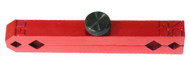 Accurate Red Anodized Aluminum Pin Gage Handle - Z2800-RED