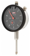"""SPI Deluxe Dial Indicator, AGD Group 2, 1.00"""" Range, 0-100 Reading, Black Dial Face - 22-301-6"""