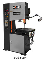 "Cosen Hydraulic Moving Table Vertical Contour Band Saw 12"" Capacity Height - VCS-600H"