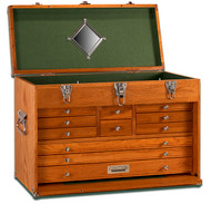 Gerstner 11-Drawer Oak Top Chest - GI-T24