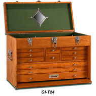 Gerstner 11-Drawer Oak Top Chest
