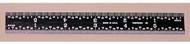 PEC Black Chrome Rigid Rule 150mm Metric - 752-150EZ