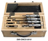 "Suburban Chrome-Plated Outside Micrometer Set 0-4"" Range - SMI-OMCS-0010"