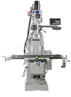 "Sharp Industries 10"" x 50"" Table Premium Vertical Knee Mill with 3 Axis DRO - TMV-K"