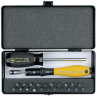 Wiha  ESD Safe TorqueVario-S 5-10in/lbs 24 Piece Micro-Bit Set - 28591