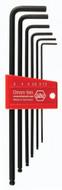 Wiha Ball End Hex Long Arm L-Key Black Metric 6 Piece Set - 36992