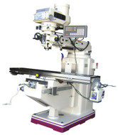 "GMC Manual Knee Type Vertical Milling Machine, 10"" x 54"", Variable Speed, with DRO & Table Power Feed - GMM-1054VPKG"