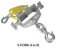 Vestil Single Fork Hoisting Hook w/Swivel Hook - S-FORK-4-6-SL