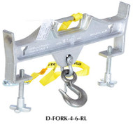 Vestil Double Fork Hoisting Hook w/Rigid Hook - D-FORK-4-6-RL