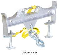 Vestil Double Fork Hoisting Hook w/Swivel Hook - D-FORK-4-6-SL