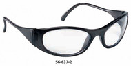 Crews Frostbite2 Safety Glasses, Gray Lens - 56-638-0