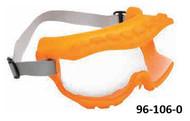 UVEX Strategy OTG Safety Goggles, Indirect Ventilation, Orange Frame, Neoprene Headband - 96-106-0