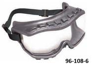 UVEX Strategy OTG Safety Goggles, Direct Ventilation, Gray Frame, Fabric Headband - 96-108-6