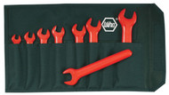 Wiha Insulated Open End Metric Wrench Set, 8 piece - 20093